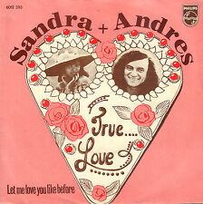 "SANDRA & ANDRES – True Love (1973 VINYL SINGLE 7"" DUTCH PS)"