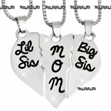Presents for Her 3 Silver Necklaces Mother Daughter Sisters Wife Women Mom J598A