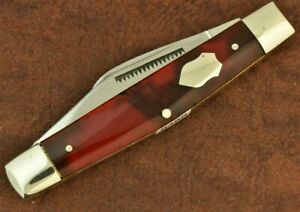 BULLDOG BRAND SOLINGEN GERMANY CELLULOID 3 BLADE STOCKMAN KNIFE 2004 NICE (8488)