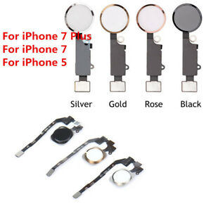 Home Button Main Key Flex Cable Replacement Assembly For iPhone 7 & 7 Plus 5S