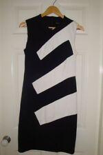 KAREN MILLEN DRESS - Black stripe - size UK 12/ AU 10