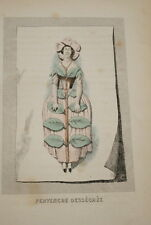 GRANDVILLE-FLEURS ANIMEES-GRAVURE  PERVENCHE DESSECHEE  1852 PRINT