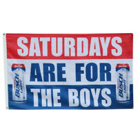 Saturdays are for the boys Coors Light Beer Flag Deluxe Banner Man Cave 3x5Feet