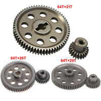 Metal Spur Differential Gear 64T Motor Pinion Cogs Set for HSP 1/10 RC Car Truck