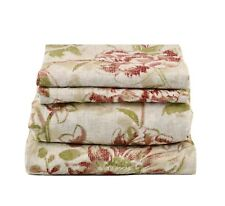 Beautiful  Comfort 3pcs Sheet Set Red and Green Floral (Twin)