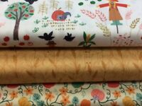 Lewis and Irene 'Scarecrow Acres' Collection 100% Cotton fabric by the half m...