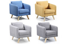 Modern Grey Yellow Blue Accent Occasional Bedroom Armchair Footstool Option