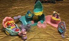 LITTLE PEOPLE LITTLE MERMAID MUSICAL UNDER THE SEA CASTLE, CARRIAGE, & FIGURES