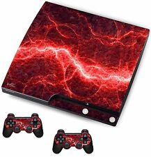 RED ELECTRIC Adesivo / Pelle PS3 PLAYSTATION 3 CONSOLE / Remote Controller, psk21
