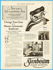 1929 Chicago Flexible Shaft Sunbeam Electric Iron Grace Dimelow Statler Hotel Ad photo