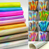 Laser Holographic Rainbow PU Leather Fabric For Sewing Bag Clothing Material DIY