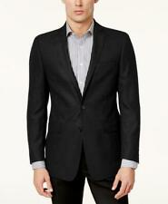 $295 Calvin Klein Black Solid Men's Slim Fit Textured Sport Coat 44R zm20