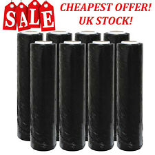 BLACK STRONG ROLLS PALLET STRETCH SHRINK WRAP PARCEL PACKAGING CLING FILM
