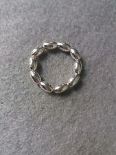 Hecho a mano plata esterlina 925 anillo de apilamiento elástica con cuentas
