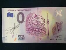 Billet 0 euro Berlin Alexanderplatz. 01.2019. Signé par Richard FAILLE
