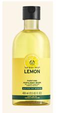 NEW The Body Shop Lemon PURIFYING HAIR & BODY WASH 400 ML