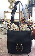 COACH Bleecker Legacy Tattersall Flap Black Leather Hobo Shoulder Bag 11419 $448