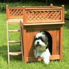 Merry Products Small Wooden Dog House - Cedar Stain