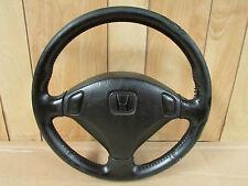JDM 97-01 Honda Prelude Type S BB6 BB8 OEM Black Leather Steering Wheel H22a