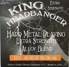 King Headbanger KB70 Hard Metal Playing Electric Guitar Strings 10-46