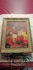 Vintage Michelob Draught Beer light up 1950-1960 advertising Sign Anheuser Busch