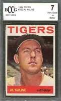 Al Kaline Card 1964 Topps #250 Detroit Tigers BGS BCCG 7