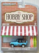 GREENLIGHT HOBBY SHOP SERIES 2 1987 JEEP WRANGLER YJ WITH SURFBOARDS