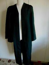 Vintage Black polyester university graduation gown Grays & Son Durham medium
