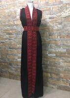 Abaya Thobe Thob Embroidered NEW Palestinian Traditional Arabic Dress Vest