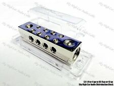 (2) 1/0 or 4 gauge to (8) 8 or 12 ga Distribution Block Car Audio Distro SHCA