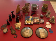 25 Vintage Cat Figurines Artwork Monet Scissors Mug Mixed Lot Miniature Books