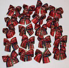 20 SM Tartan Plaid Dog Bows Dog Grooming Bows Child Bows Handmade USA Yorkie NEW