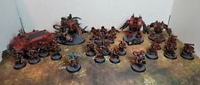 Warhammer 40k, Chaos Space Marines, Red Corsairs Army. PAINTED++.