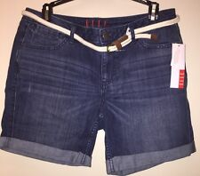 ELLE WOMEN/'S SIZE 10 PLEATED  DENIM SHORTS NEW WITH TAG $40