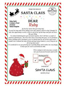 Personalised Santa Letter - Father Christmas letter - Christmas Eve Box