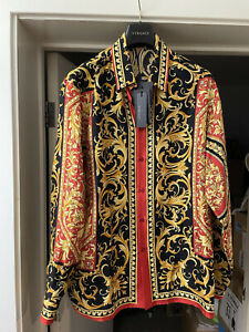 Versace Le Pop Classique printed shirt SILK 42 NEW with tags 100% AUTHENTIC