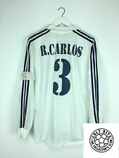 Real Madrid R.CARLOS #3 02/03 L/S Centenary Home Football Shirt (L) Jersey