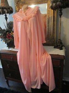 "Motherhood Maternity Nursing Nightgown & Robe set nylon Peach 42"" bust Pretty"