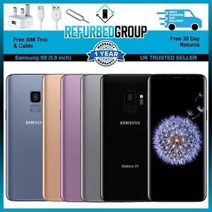 Samsung Galaxy S9 SM-G960F - 64/128/256GB - (Unlocked)  Various Colours Grades