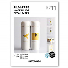 """Sunnyscopa Laser Waterslide Decal Paper Film-Free A-Type 8.5""""x11"""", 10 Sheets"""