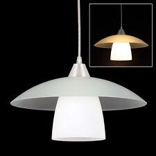 """!ANGEBOT! DESIGN """"HANG 1C"""" Hängeleuchte Pendelleuchte Matt Glas Weiß Lampe E27"""