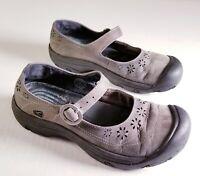 Keen Calistoga Womens Size 7.5 M Tan Suede Leather Mary Jane Shoe Vibram Sole