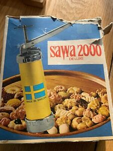 Vtg Sawa 2000 Deluxe Cookie Press Made In Sweden (With Manual)