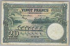 Belgian Congo Ruanda Urundi 20 francs 01-09-1952
