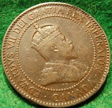1902 CANADA LARGE CENT Edward VII COIN NoRes CANADIAN High Grade!--<