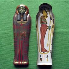 More details for vintage egyptian sarcophagus tin box british museum souvenir  archaeologist a