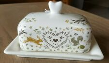 Cooksmart Woodland Butter Dish / Tray, hare / squirrel / fox / hedgehog design