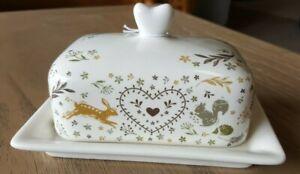 Cooksmart Woodland Butter Dish / Tray, hare / squirrel / fox / hedgehog design