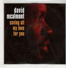 (GS986) David McAlmont, Saving All My Love For You - 2005 DJ CD