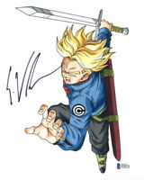 ERIC VALE SIGNED AUTOGRAPHED 8x10 PHOTO VOICE TRUNKS DRAGON BALL Z BECKETT BAS